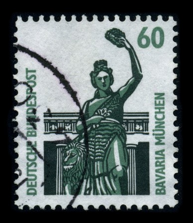 GERMANY - CIRCA 1980: A stamp printed in GERMANY shows image of the dedicated to the Munich is the capital city of Bavaria (Bayern), Germany, circa 1980. Stock Photo - 8194290
