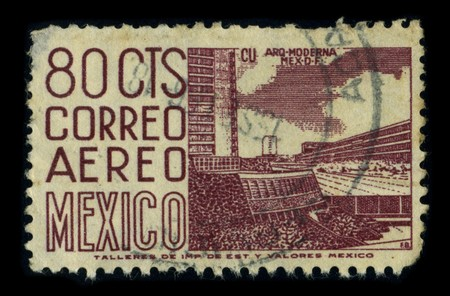MEXICO - CIRCA 1980: A stamp printed in MEXICO shows image of the dedicated to the Architecture of Mexico, circa 1980. Stock Photo - 8322961