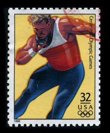 USA - CIRCA 1996: A stamp dedicated to The Mens Shot, Put, circa 1996.