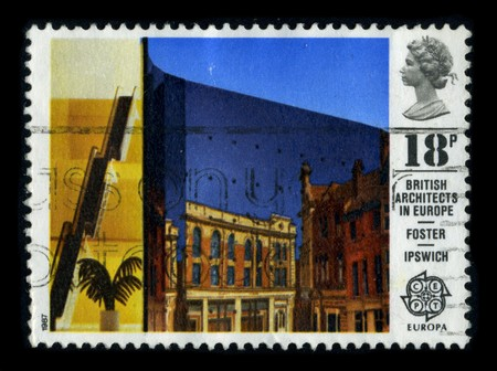UNITED KINGDOM - CIRCA 1987: A stamp printed in UNITED KINGDOM shows image of the dedicated to the British Architects In Europe, circa 1987. Stock Photo - 8322979