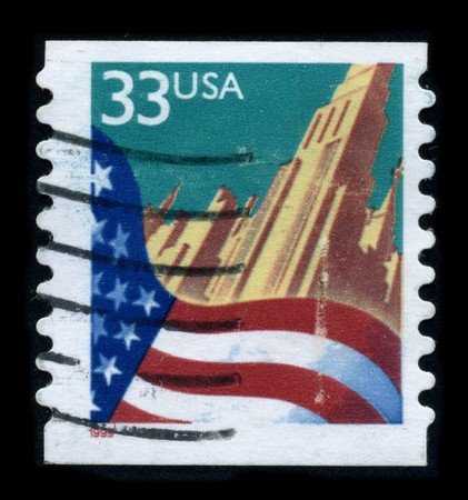populous: USA - CIRCA 1999: A stamp dedicated to the New York is the most populous city in the United States, and the center of the New York metropolitan area, which is one of the most populous metropolitan areas in the world, circa 1999.