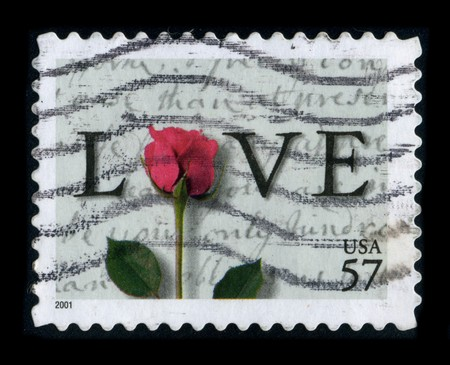 USA - CIRCA 2001: A stamp printed in USA shows image of the dedicated to the Love, circa 2001.