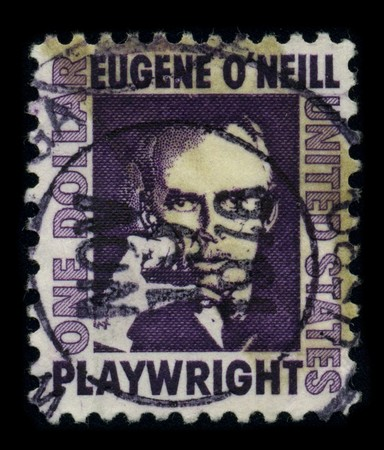 mediaval: USA-CIRCA 1978: A stamp printed in USA shows portrait Eugene Gladstone ONeill (16 October 1888 - 27 November 1953) was an American playwright, and Nobel laureate in Literature circa 1978.