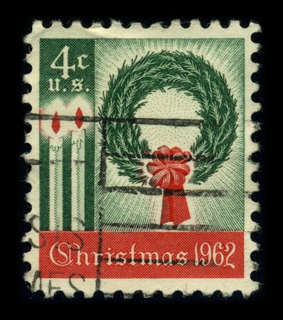 USA - CIRCA 1962: A stamp printed in USA shows image of the dedicated to the Christmas, circa 1962. Stock Photo - 8322958