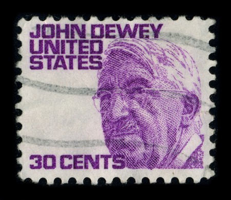 dewey: USA - CIRCA 1980: A stamp shows image portrait John Dewey (October 20, 1859 - June 1, 1952) was an American philosopher, psychologist and educational reformer whose ideas have been influential in education and social reform, circa 1980.