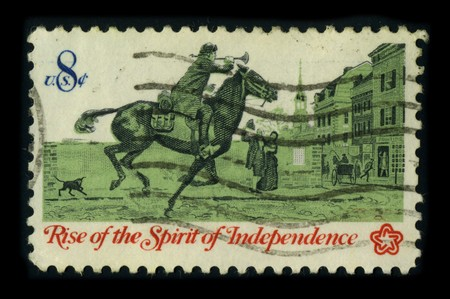 USA - CIRCA 1973: A stamp printed in USA shows image of the dedicated to the Rise of the Spirit of Independence, circa 1973. Stock Photo - 8322956