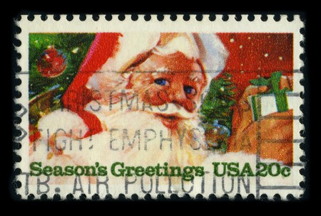 postal office: USA - CIRCA 1975: A stamp printed in USA shows image of the dedicated to the Christmas, circa 1975.