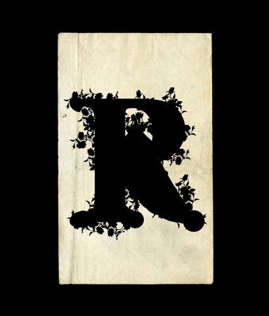 r image: Una lettera iniziale R in background vecchio.