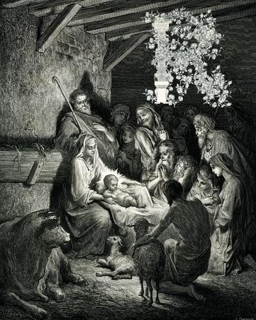 r image: Carta de Navidad inicial victoriana r. Foto de archivo