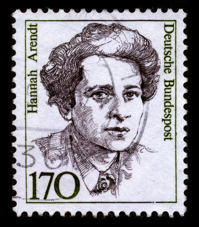 influential: GERMANY - CIRCA 1980: A stamp dedicated to the Hannah Arendt (October 14, 1906 - December 4, 1975) was an influential German Jewish political theorist, circa 1980.