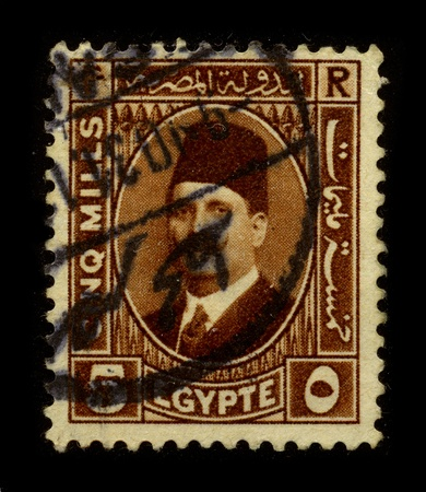 farouk: EGYPT - CIRCA 1960: A stamp dedicated to the Farouk I of Egypt (11 February 1920 - 18 March 1965), was the tenth ruler from the Muhammad Ali Dynasty and the penultimate King of Egypt and Sudan, circa 1960.