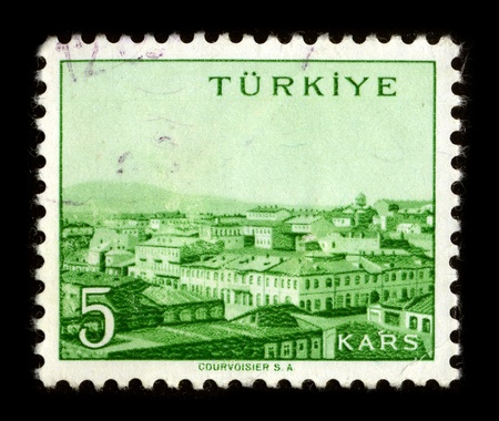 TURKEY - CIRCA 1970: A stamp dedicated to the Kars is a city in northeast Turkey and the capital of Kars Province, circa 1970.