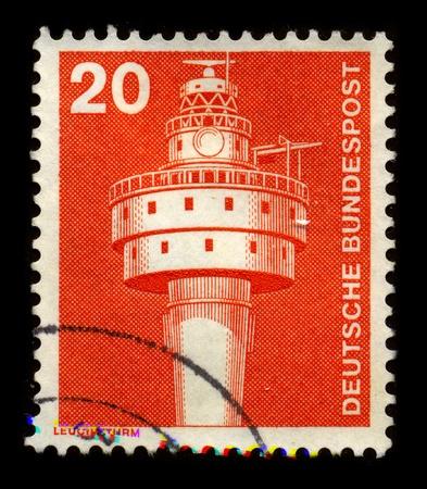 dedicated: GERMANY - CIRCA 1980: A stamp dedicated to the German lighthouse, circa 1980.