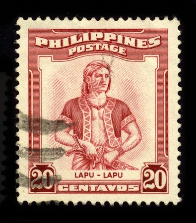 colonization: PHILIPPINES - CIRCA 1970: A stamp dedicated to the Lapu-Lapu (1491-1542) was the datu of Mactan, an island in the Visayas in the Philippines, who is known as the first native of the archipelago to have resisted Spanish colonization, circa 1970. Editorial