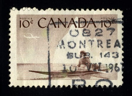 CANADA - CIRCA 1967: A stamp dedicated to the Aboriginal Canada, circa 1967.