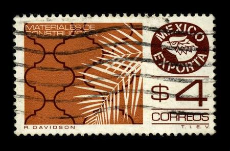 dedicated: MEXICO - CIRCA 1980: A stamp dedicated to the Mexicos exports of building materials, circa 1980.
