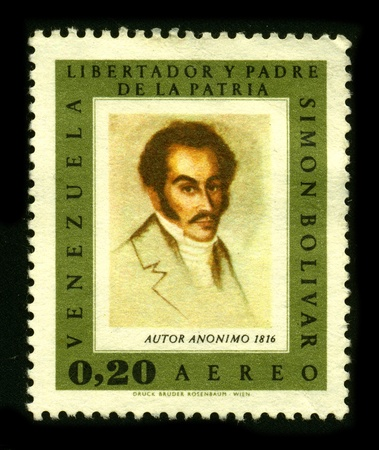 VENEZUELA - CIRCA 1980: A stamp dedicated to the Simon Jose Antonio de la Santisima Trinidad Bolivar y Palacios Ponte y Blanco, commonly known as Simon Bolivar (July 24, 1783 - December 17, 1830) was a Venezuelan military and political leader, circa 1980.