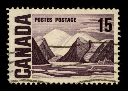 CANADA-CIRCA 1980:A stamp printed in CANADA shows image of the Canadian North, circa 1980.
