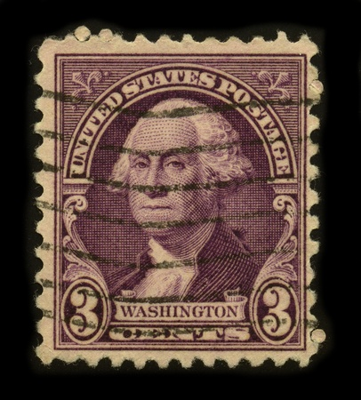 USA - CIRCA 1932: A stamp printed in USA shows image portrait George Washington (1732–1799), was the first president of the United States (1789–1797), circa 1932. Stock Photo - 8796996