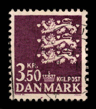 DENMARK - CIRCA 1972: A stamp printed in DENMARK shows image of the dedicated to the postage stamps and postal history of Denmark, circa 1972.