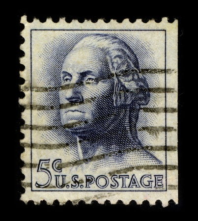USA-CIRCA 1962:A stamp printed in USA shows image of the George Washington (February 22, 1732 - December 14, 1799) was the dominant military and political leader of the new United States of America from 1775 to 1799, circa 1962.