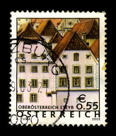 AUSTRIA-CIRCA 2003:A stamp printed in AUSTRIA shows image of the Sankt Ulrich bei Steyr is a municipality in the district of Steyr-Land in Upper Austria, Austria, circa 2003. Stock Photo - 9129075