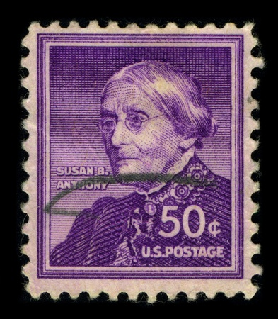 pivotal: USA-CIRCA 1940:A stamp printed in USA shows image of the Susan Brownell Anthony (February 15, 1820 - March 13, 1906) was a prominent American civil rights leader who played a pivotal role in the 19th century womens rights movement to introduce womens su