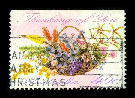 AUSTRALIA-CIRCA 1980:A stamp printed in AUSTRALIA shows image of the Christmas, circa 1980.