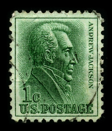 USA-CIRCA 1963:A stamp printed in USA shows image of Andrew Jackson (March 15, 1767 - June 8, 1845) was the seventh President of the United States (1829�1837), circa 1963.
