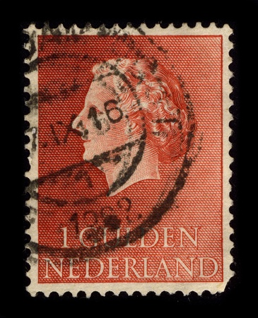regnant: NETHERLAND-CIRCA 1962:A stamp printed in NETHERLAND shows image of the Juliana (Juliana Louise Emma Marie Wilhelmina; 30 April 1909 - 20 March 2004) was the Queen regnant of the Kingdom of the Netherlands between 1948 and 1980, circa 1962.
