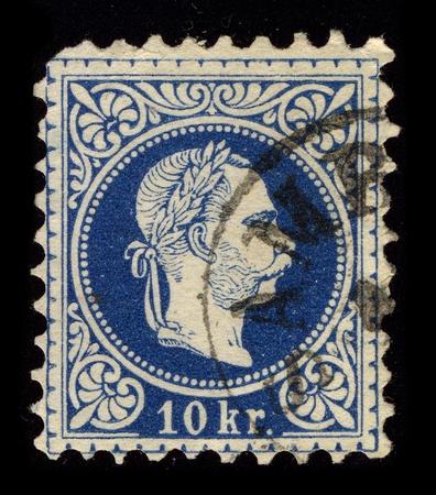 apostolic: AUSTRIA-CIRCA 1867:A stamp printed in AUSTRIA shows image of Franz Joseph I or Francis Joseph I (18 August 1830 - 21 November 1916) was Emperor of Austria, King of Bohemia, King of Croatia and Apostolic King of Hungary from 1848 until 1916, circa 1867.