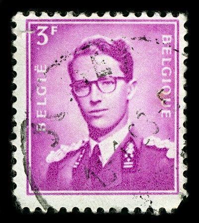leopold: BELGIUM-CIRCA 1953:A stamp printed in BELGIUM shows image of Leopold III reigned as King of the Belgians from 1934 until 1951,circa 1953.