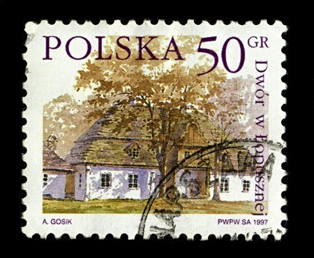POLAND-CIRCA 1997:A stamp printed in POLAND shows image of Lopuszna  is a village in the administrative district of Gmina Nowy Targ, within Nowy Targ County, Lesser Poland Voivodeship, in southern Poland, circa 1997. Stock Photo - 10166031