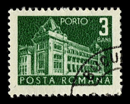 ROMANIA-CIRCA 1967:A stamp printed in ROMANIA shows image of post and telecommunications, circa 1967. Stock Photo - 10321638