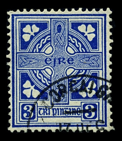 Ireland Circa 1922a Stamp Printed In Ireland Shows Image Of Stock
