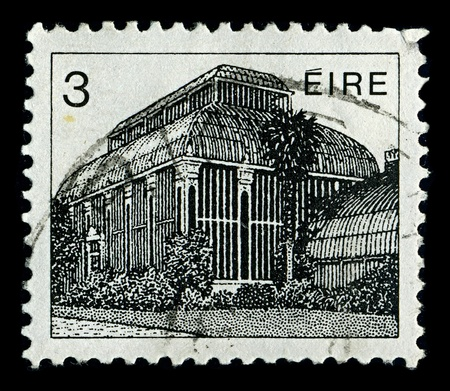 IRELAND-CIRCA 1982:A stamp printed in IRELAND shows image of The National Botanic Gardens  are located in Glasnevin, 5 km north-west of Dublin city centre, Ireland, circa 1982.