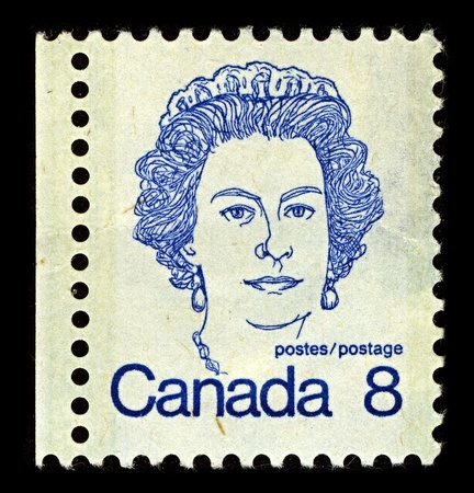 CANADA-CIRCA 1973:A stamp printed in CANADA shows image of Elizabeth II (Elizabeth Alexandra Mary, born 21 April 1926) is the constitutional monarch of United Kingdom, circa 1973. Stock Photo - 10678424