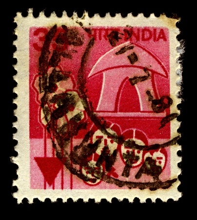 India-CIRCA 1980:A stamp printed in India shows image of Flower heads home, circa 1980. Stock Photo - 10912290
