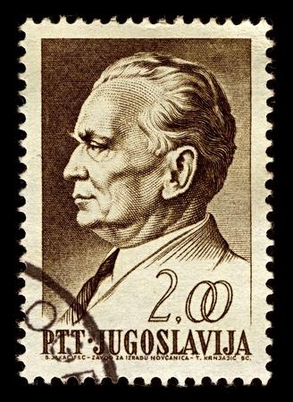 statesman: Yugoslavia-CIRCA 1968:A stamp printed in Yugoslavia shows image of Josip Broz Tito was a Yugoslav revolutionary and statesman, circa 1968.