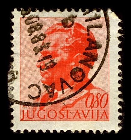 statesman: Yugoslavia-CIRCA 1972:A stamp printed in Yugoslavia shows image of Josip Broz Tito was a Yugoslav revolutionary and statesman, circa 1972.