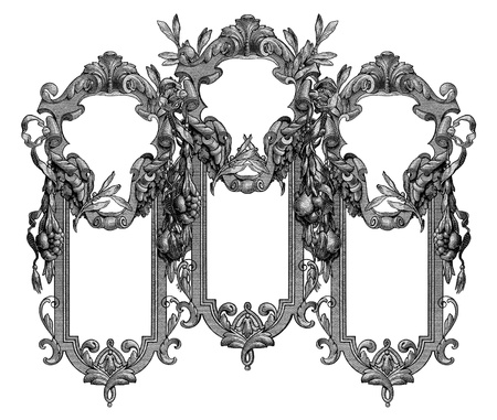 luxuriously: Luxuriously illustrated old Victorian frame. Stock Photo