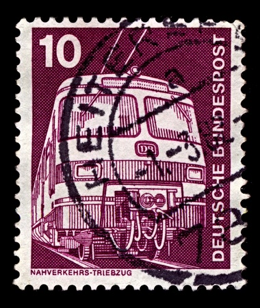 Germany-CIRCA 1975:A stamp printed in Germany shows image of transport 420421 trainset ET, circa 1975.