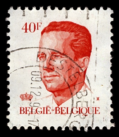 baudouin: BELGIUM-CIRCA 1984:A stamp printed in BELGIUM shows image of Baudouin I reigned as King of the Belgians, circa 1984.