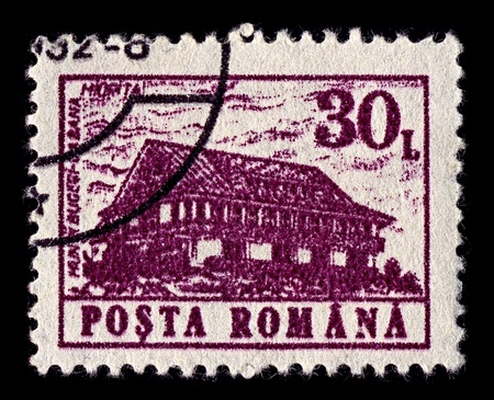 ROMANIA-CIRCA 1991:A stamp printed in ROMANIA shows image of Miorita mountain hostel Bucegi, circa 1991.
