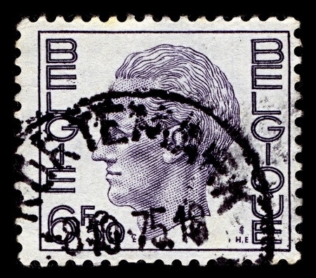 BELGIUM-CIRCA 1976:A stamp printed in BELGIUM shows image of Baudouin I reigned as King of the Belgians, circa 1976.