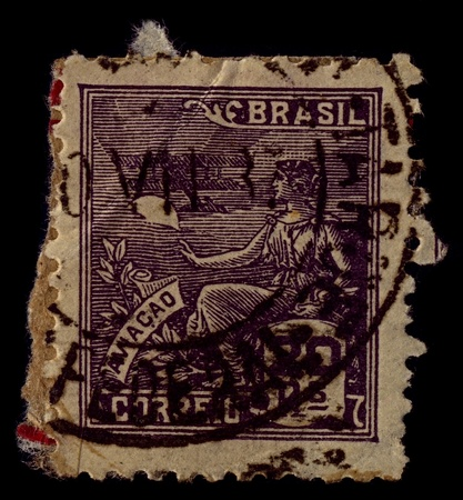 especially: BRAZIL-CIRCA 1936:A stamp printed in BRAZIL shows image of Aviation is the design, development, production, operation, and use of aircraft, especially heavier-than-air aircraft, circa 1936.