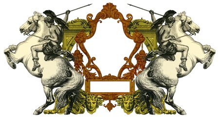Luxurious Victorian frame photo