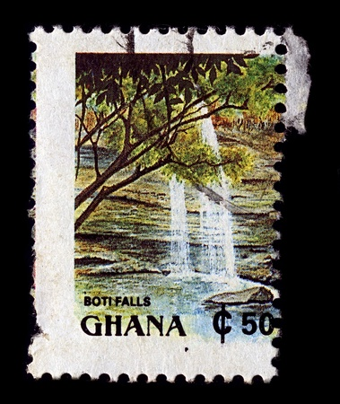 GHANA-CIRCA 1991:A stamp printed in GHANA shows image of Tourism Ghana, circa 1991. Stock Photo - 12445146