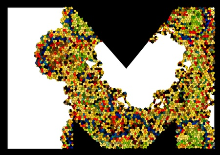 Mosaic letter M Stock Vector - 13581873