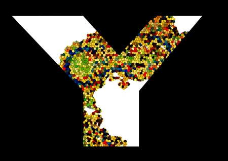 Mosaic letter Y Stock Vector - 13581857